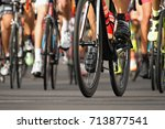 cycling competition cyclist...   Shutterstock . vector #713877541