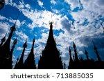 pagodas in kakku near inle lake ... | Shutterstock . vector #713885035
