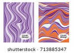 cover layouts collection with... | Shutterstock .eps vector #713885347