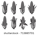 collection of black corn images   Shutterstock .eps vector #713885701