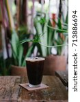 iced espresso on the table ...   Shutterstock . vector #713886694