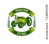 farm vector logos design | Shutterstock .eps vector #713890105