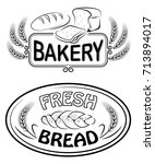 labels and signs for bakery and ... | Shutterstock .eps vector #713894017