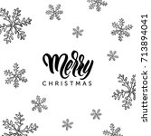 merry christmas lettering and...   Shutterstock .eps vector #713894041