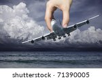 Hand of fate ? - stock photo