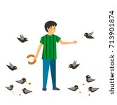 colorful illustration set of... | Shutterstock .eps vector #713901874