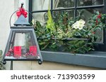lantern filled with different... | Shutterstock . vector #713903599