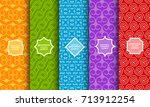 set of different bright... | Shutterstock .eps vector #713912254