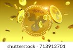 virtual cryptocurrency ripple... | Shutterstock . vector #713912701