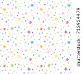 festive confetti pattern... | Shutterstock . vector #713924479