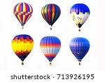 hot air balloons on white... | Shutterstock . vector #713926195