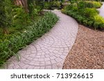 pathways with green lawns ... | Shutterstock . vector #713926615