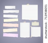 torn ruled  note  notebook ... | Shutterstock .eps vector #713938051