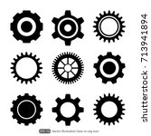 gear or cog icon on a white... | Shutterstock .eps vector #713941894