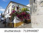 portugal  obidos   august 8 ... | Shutterstock . vector #713944087