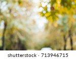 Blurred Background Of Autumn...