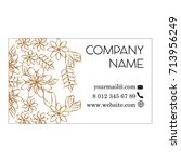 floral minimal corporate...