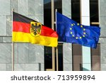 flags of germany  federal... | Shutterstock . vector #713959894