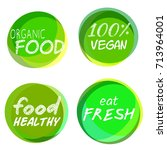 set of four labels for... | Shutterstock .eps vector #713964001