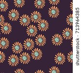 cute seamless floral pattern....   Shutterstock .eps vector #713964385