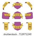 set of vector tag design  | Shutterstock .eps vector #713971249