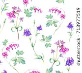 watercolor seamless pattern... | Shutterstock . vector #713977519