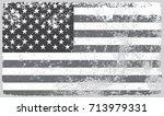 grunge usa flag.flag of united... | Shutterstock .eps vector #713979331