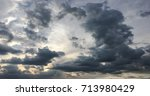 beautiful blue sky with clouds... | Shutterstock . vector #713980429