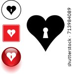 heart with keyhole symbol sign... | Shutterstock .eps vector #713984089