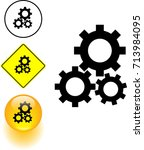 gears engaged symbol sign and... | Shutterstock .eps vector #713984095