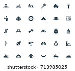 vector illustration set of... | Shutterstock .eps vector #713985025