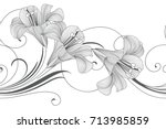 abstract seamless hand drawn... | Shutterstock .eps vector #713985859