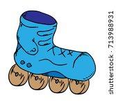roller skates. vector... | Shutterstock .eps vector #713988931