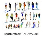 people  watercolor | Shutterstock . vector #713992801
