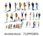 people  watercolor | Shutterstock . vector #713992801