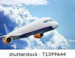 large passenger plane flying in ...   Shutterstock . vector #71399644