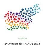 dotted texture slovenija vector ... | Shutterstock .eps vector #714011515