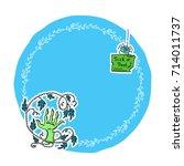 vector halloween illustration ...   Shutterstock .eps vector #714011737