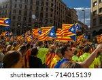 barcelona  catalonia  spain ... | Shutterstock . vector #714015139