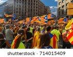 barcelona  catalonia  spain ... | Shutterstock . vector #714015409