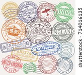 london united kingdom stamp... | Shutterstock .eps vector #714016135
