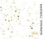 gold stars. confetti... | Shutterstock .eps vector #714016444