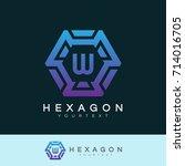 hexagon initial letter w logo... | Shutterstock .eps vector #714016705