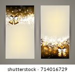 christmas greeting card with... | Shutterstock .eps vector #714016729