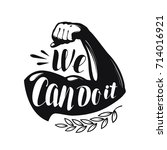 we can do it  banner.... | Shutterstock .eps vector #714016921