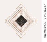 luxury marble rose gold tile... | Shutterstock .eps vector #714016957
