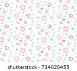 flat line design concept icons... | Shutterstock .eps vector #714020455