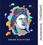 the apollo belvedere. dream... | Shutterstock .eps vector #714020641