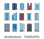 set of isolated modern... | Shutterstock .eps vector #714031951