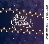 merry christmas and new year... | Shutterstock . vector #714032335